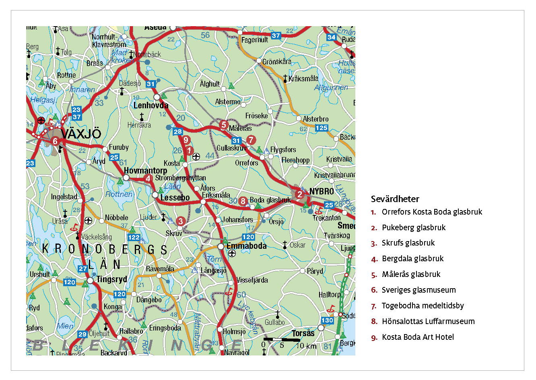 glasriket karta Legind | Underbare Sverige glasriket karta
