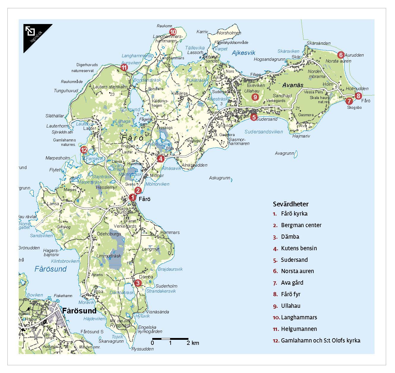 fårö gotland karta Legind | Underbare Sverige fårö gotland karta